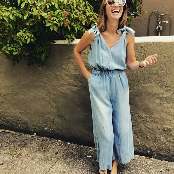 30fa67f7eed Anthropologie Pants - 4our Dreamers blue yellow linen jumpsuit